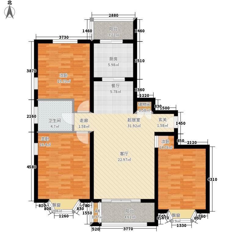 绿地崴廉公寓107.79㎡一期d1面积10779m户型