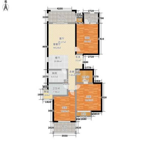 龙熙半岛3室1厅2卫1厨204.00㎡户型图