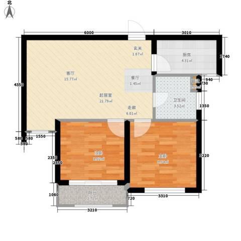 咏梅山庄2室0厅1卫1厨71.00㎡户型图