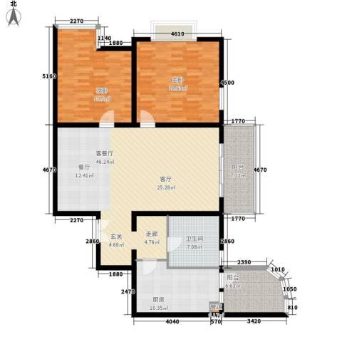 新兴翰园2室1厅1卫1厨126.94㎡户型图
