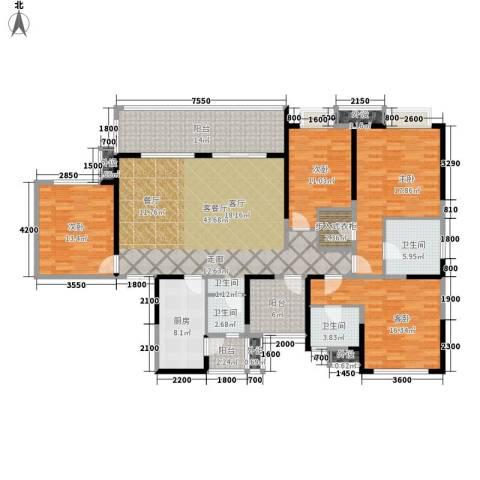 领馆国际城4室1厅3卫1厨175.00㎡户型图