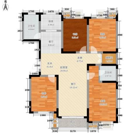 省直机关家属院4室0厅2卫1厨100.00㎡户型图