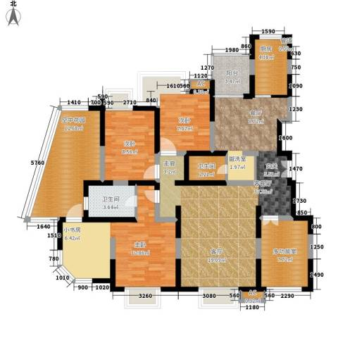 曲江兰亭3室1厅2卫1厨124.01㎡户型图