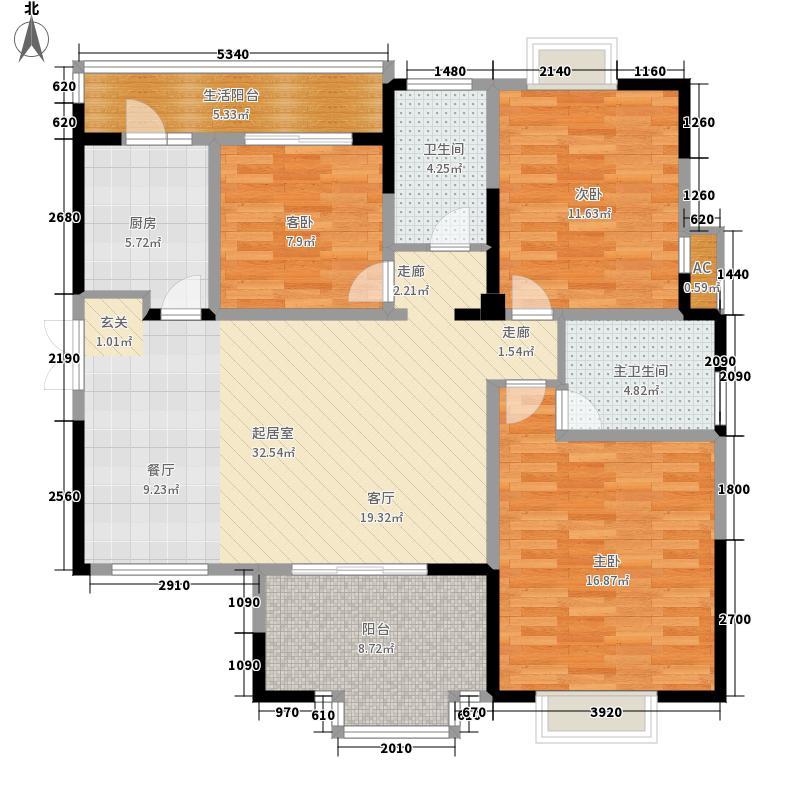 中环岛122.00㎡一期1、5号楼标准层B2户型