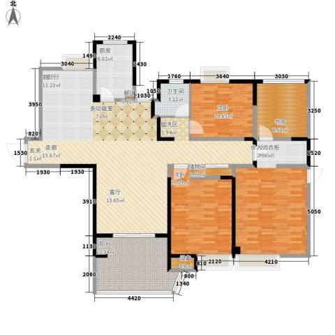 红谷凯旋4室1厅1卫1厨188.00㎡户型图