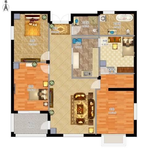 富士庄园三期樱花墅4室1厅2卫1厨151.00㎡户型图