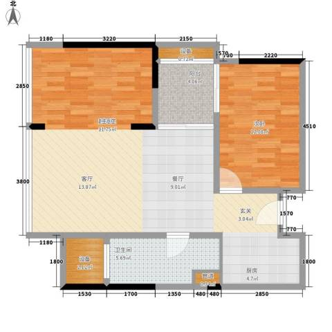 朱美拉公寓1室0厅1卫0厨95.00㎡户型图