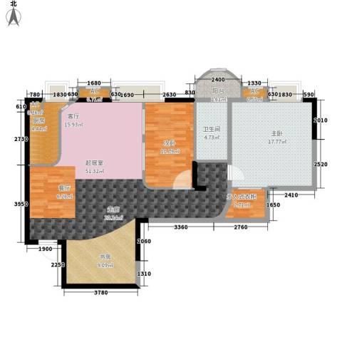 丽都桃源2室0厅1卫1厨95.88㎡户型图