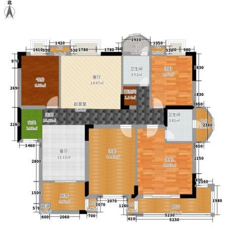 丽都桃源4室0厅2卫1厨129.00㎡户型图
