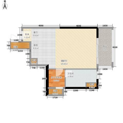 朱美拉公寓1厅1卫0厨53.00㎡户型图