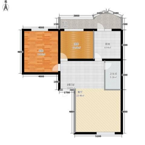 平安万和园2室0厅1卫1厨123.00㎡户型图