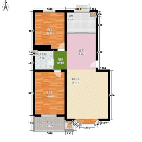 百可园2室0厅1卫1厨103.00㎡户型图