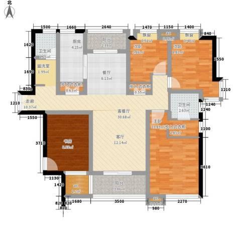 居礼4室1厅2卫1厨148.00㎡户型图