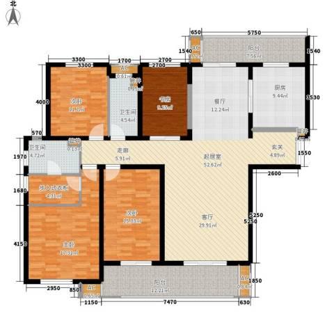中海御湖公馆4室0厅2卫1厨175.00㎡户型图