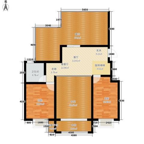 水印莱茵2室1厅1卫0厨159.00㎡户型图