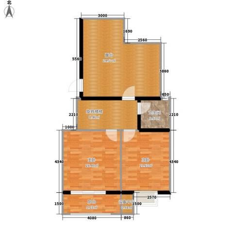 水印莱茵2室0厅1卫0厨101.00㎡户型图