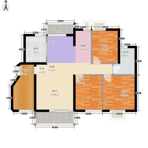 银华山庄3室0厅1卫1厨139.00㎡户型图
