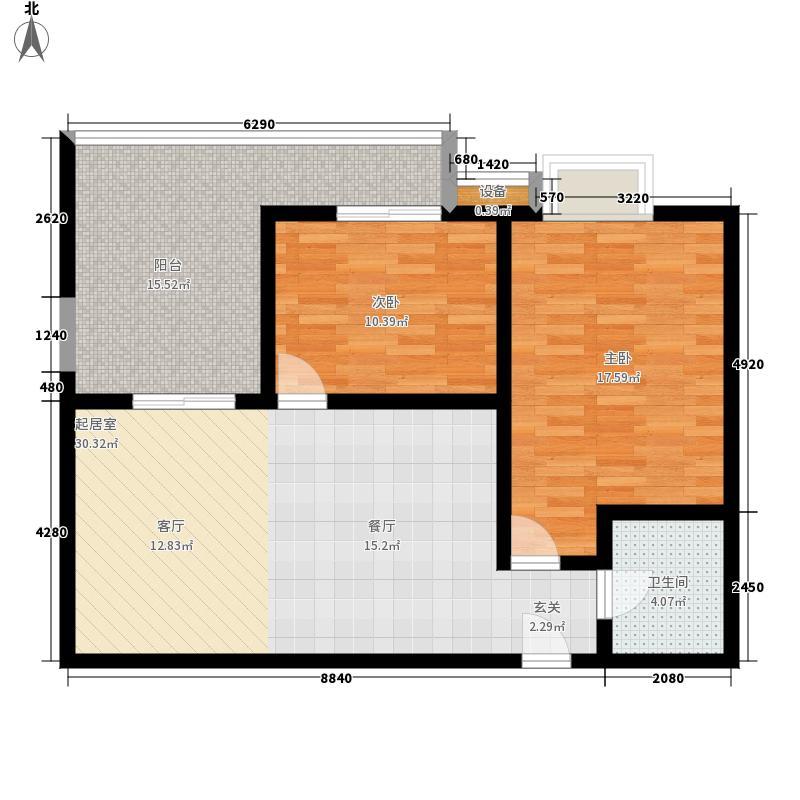 荔城花园89.15㎡1期8栋标准层03面积8915m户型