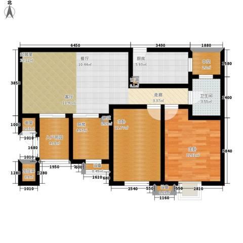 荔城花园2室0厅1卫2厨87.00㎡户型图