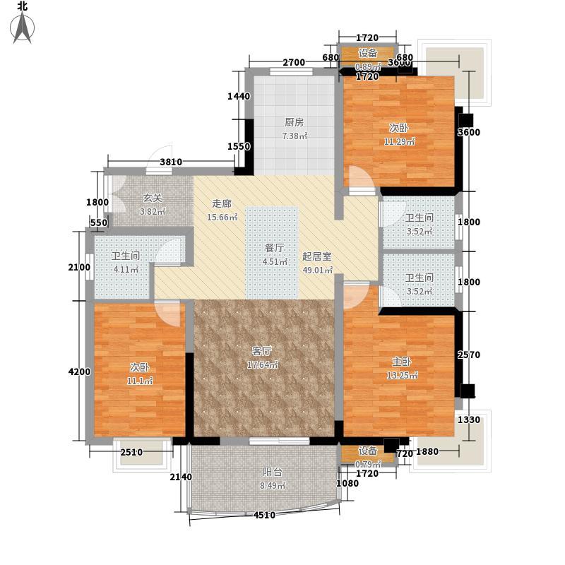 上东莱克辛顿140.83㎡2-5栋A2-1户面积14083m户型
