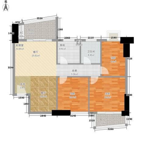 远洋明苑3室0厅1卫1厨95.00㎡户型图