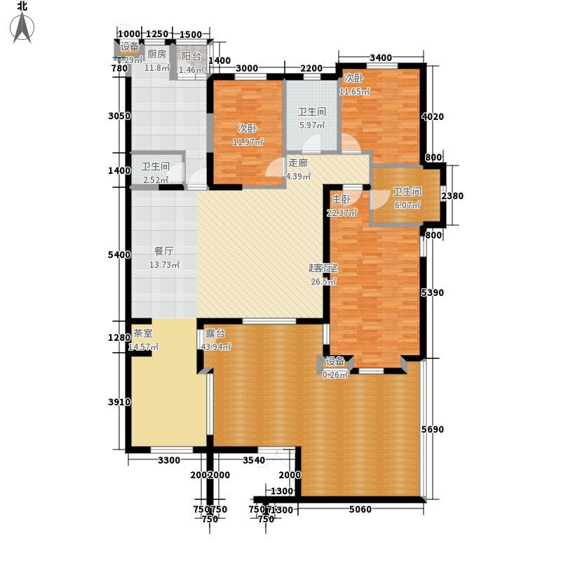 松江城左右城二期150.00㎡三室两厅两卫户型