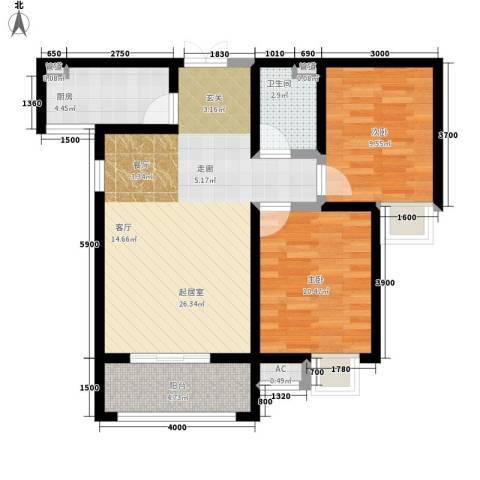 祥和雅居2室0厅1卫1厨69.34㎡户型图