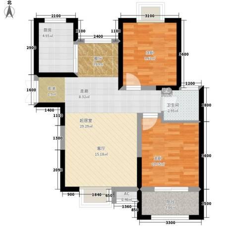 祥和雅居2室0厅1卫1厨71.77㎡户型图