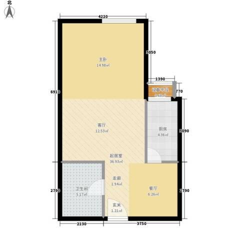 宏府嘉会公寓1卫1厨52.00㎡户型图