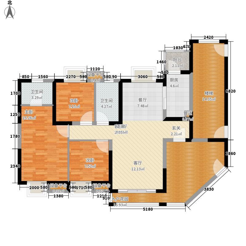 中海金沙湾121.72㎡A329~33层03面积12172m户型