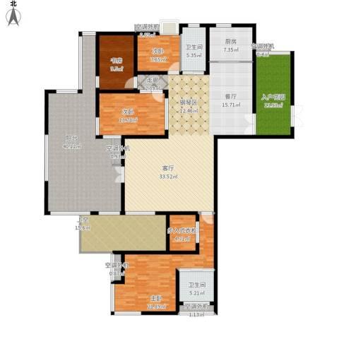 富中蝴蝶谷4室1厅2卫1厨302.00㎡户型图
