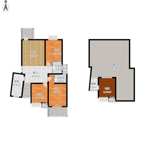碧水云天家园4室1厅2卫1厨268.00㎡户型图