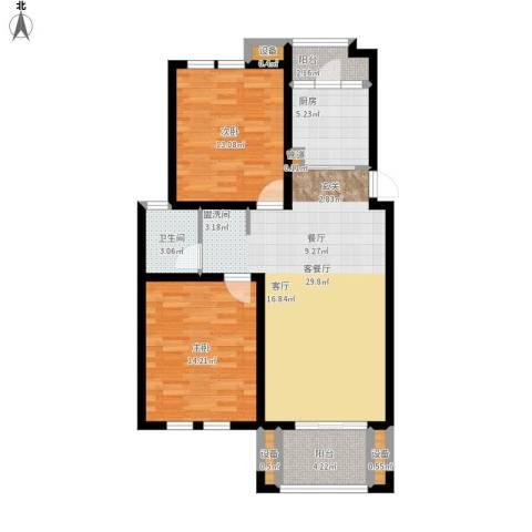 仙龙湾山庄2室1厅1卫1厨107.00㎡户型图