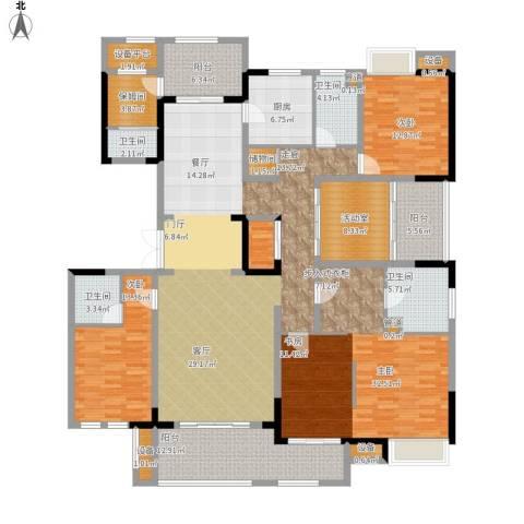 仙龙湾山庄3室0厅4卫1厨266.00㎡户型图