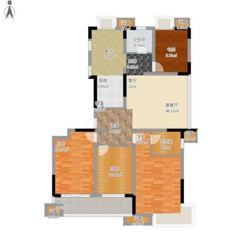 仙龙湾山庄4室1厅2卫0厨170.00㎡户型图