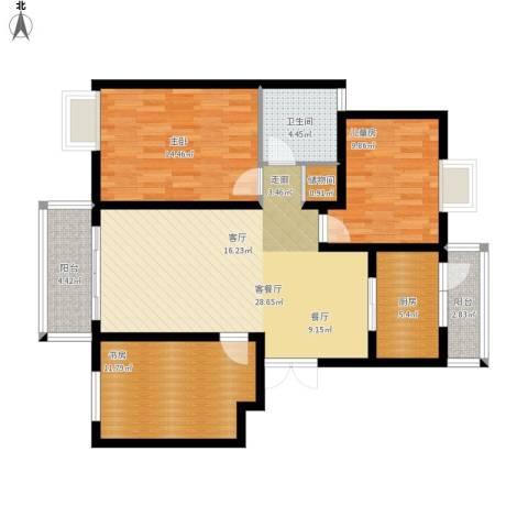 仙龙湾山庄3室1厅1卫1厨119.00㎡户型图
