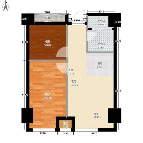 索罗巷小区2室1厅2卫0厨52.00㎡户型图