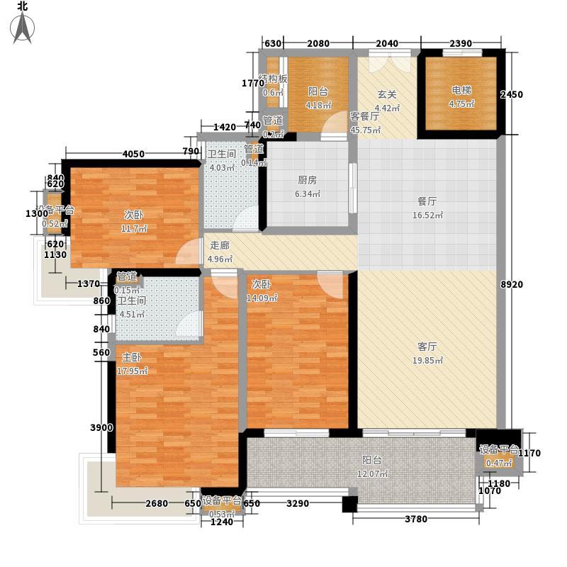 中海金沙湾147.59㎡B3栋5-27层03面积14759m户型