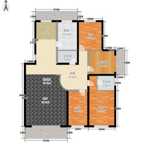 净馨家园3室0厅2卫1厨190.00㎡户型图