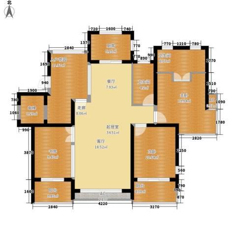 翠屏紫气钟山3室0厅2卫1厨126.00㎡户型图