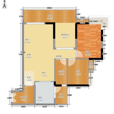 江南新苑2室0厅1卫1厨100.00㎡户型图