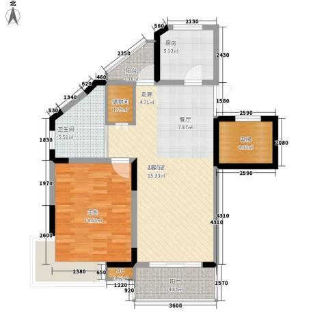奥体新城木樨园1室0厅1卫1厨96.00㎡户型图