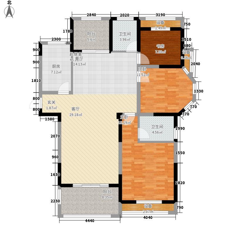 圣联梦溪小镇133.00㎡7#01户型3室2厅