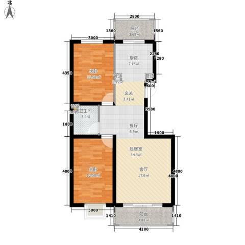 安联水晶城2室0厅1卫0厨95.00㎡户型图