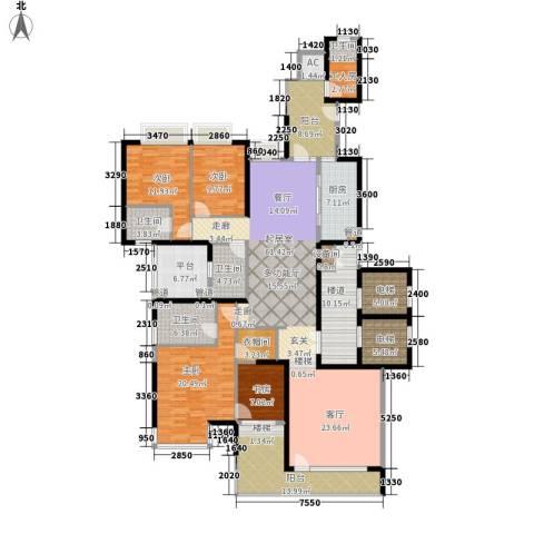 粤海丽江花园4室0厅4卫1厨225.00㎡户型图