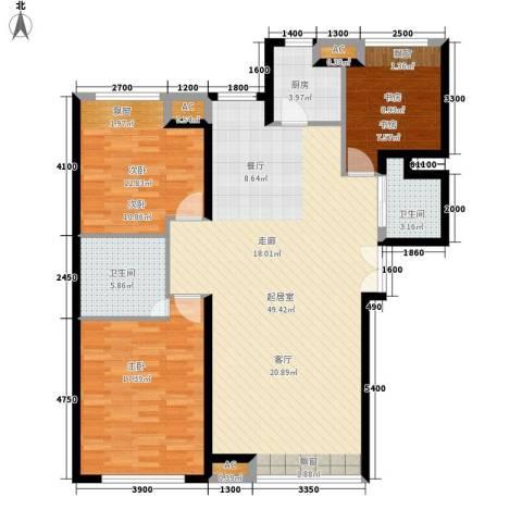 银河新坐标3室0厅2卫1厨115.16㎡户型图