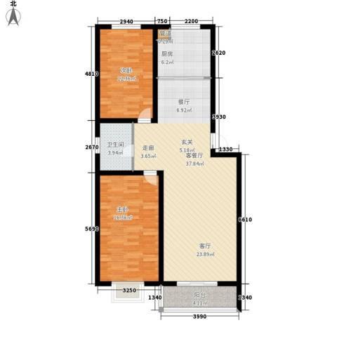 景观花园三期2室1厅1卫1厨109.00㎡户型图