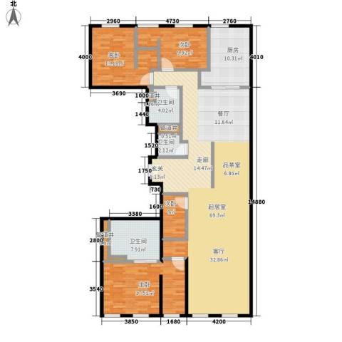 万国城moma4室0厅3卫1厨238.00㎡户型图