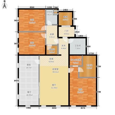 万国城moma3室1厅3卫0厨232.00㎡户型图