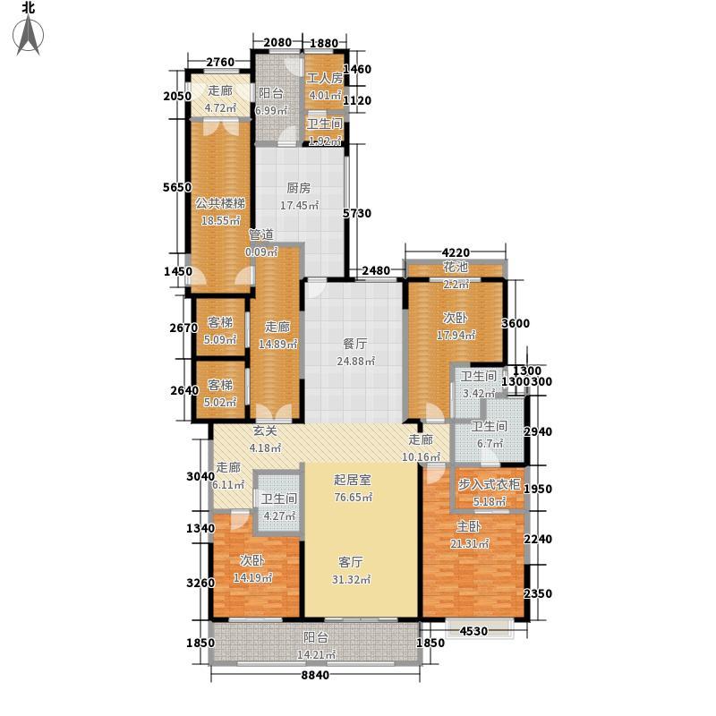 富力华庭245.00㎡富力华庭户型图C3号楼(5/8张)户型3室2厅3卫